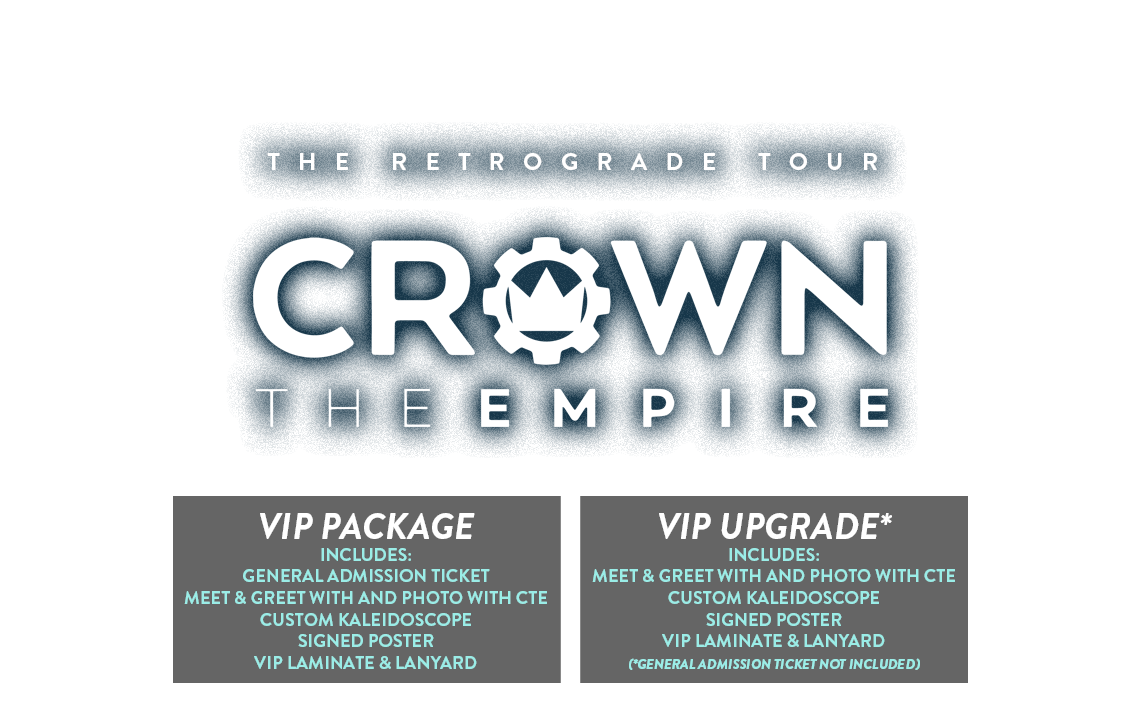 Crown The Empire Retrograde Tickets